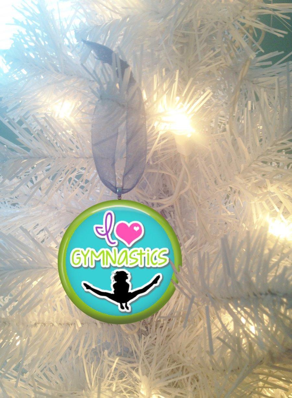 Gymnastics ornament christmas - Gymnastics 2 Love Christmas Tree Ornament