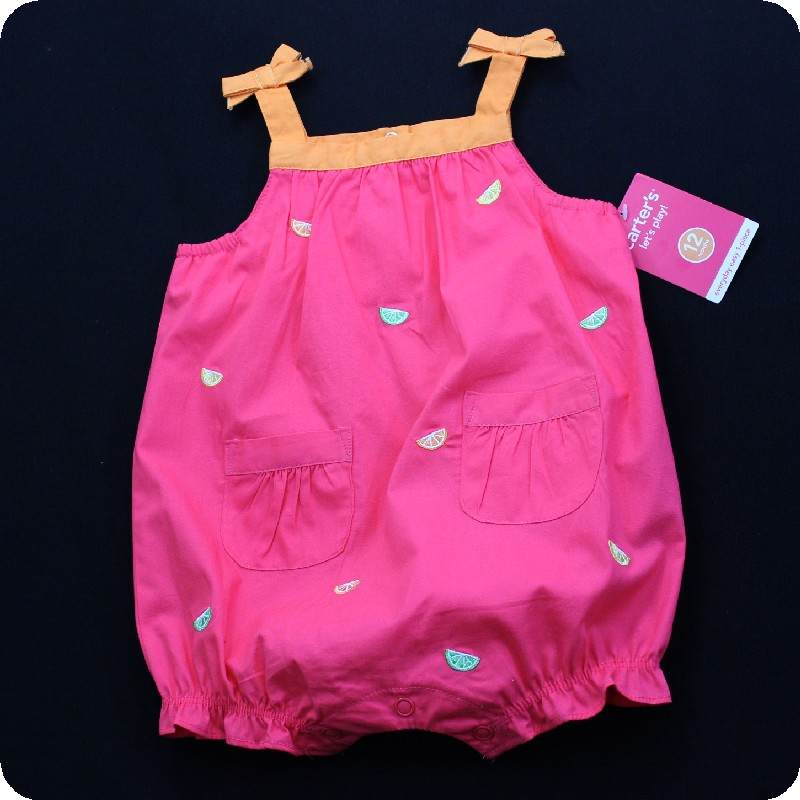 NWT-CARTERS-Bubble-ROMPER-ONE-PIECE-Sunsuit-SUMMER-INFANT-BABY-Girls-U-PICK-SIZE