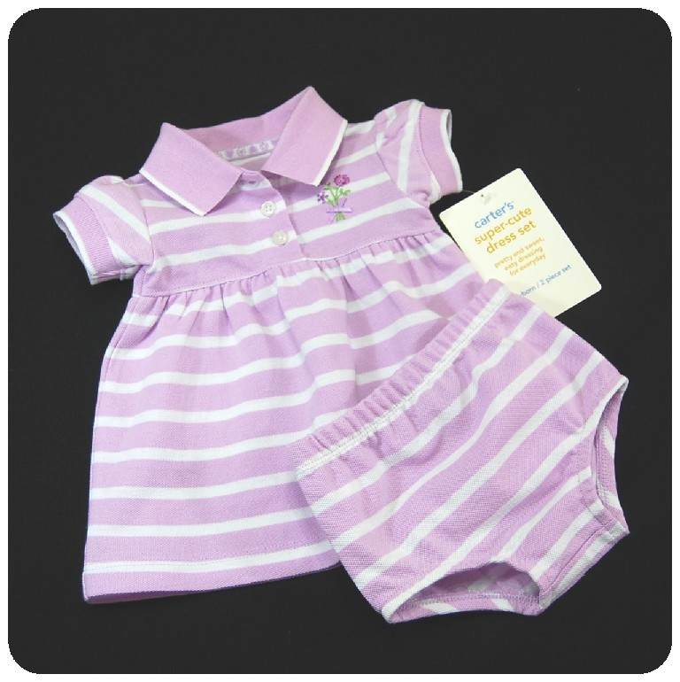 New//NWT~CARTERS~BABY GIRLS SUMMER DRESS SET~Nb 3M 12M
