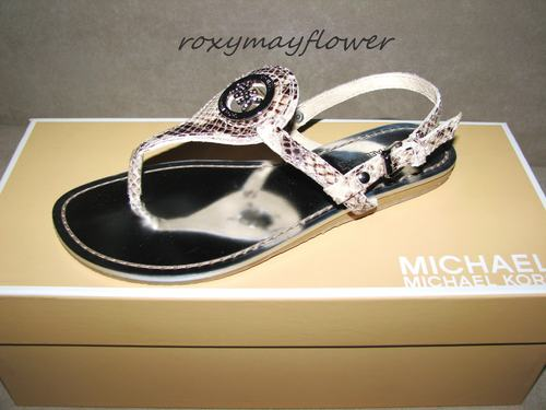 Michael-Kors-MK-Capri-Thong-Shoes-Sandals-Snake-Python